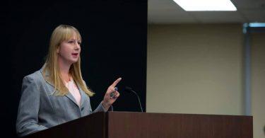 Helen presenting